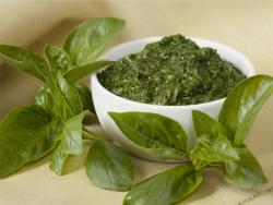 Groene pesto basilicum